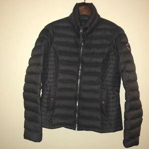 Abercrombie + Fitch Gray Puffer Down Jacket